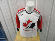 VINTAGE NIKE TEAM CANADA HOCKEY L/XL BOYS/WOMEN'S SEWN JERSEY PRE-OWNED