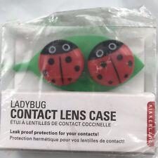 Kikkerland Ladybug Leak Proof Contact Lens Case FDA Approved New