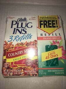 Glade Plugins Electric Gel 3 Refills Country Spice Plug Ins And 3 Island Breeze
