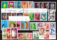 Svizzera - Lotto di 110 francobolli in serie complete
