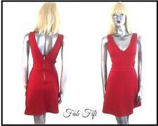 Divided Red Dress Cut Out Waist Detail Textured ~ Medium 12