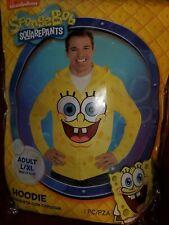 SpongeBob SquarePants Adult Zip-Up Costume Hoodie Size Large/XL Authentic NEW