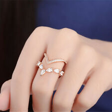 Adornment Crystal Ring Ring Adjustable Wild Water Drop Birthday Fashion Ring CO