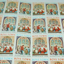 FULL SHEET BOYS TOWN NEBRASKA STAMPS FROM 1968