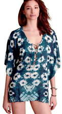 New listing Anthropologie Tie Dye Caftan Large 10 12 Blue Soft Modal Swim Cover Up Poncho