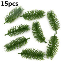 Newest 15pcs Artificial Plants Pine Branches Diy Christmas Tree Wedding Decor-