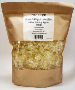 Premium NICFREE Bulk Cigarette Filter Tips Filter Out Tar & Nic (1000 Filters)