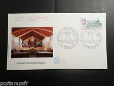 FRANCE 1985, FDC 1° JOUR, ARCHITECTURE ABBAYE LANDEVENNEC, timbre 2349, VF COVER