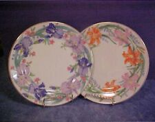Two 1998 Lenox Suzanne Clee Flower Blossom Plates ~ Day Lily and Iris