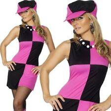 Mujer SWING Años 60 AÑOS 70 Disfraz Sesentas Mujer Disfraz & Sombrero 8-18