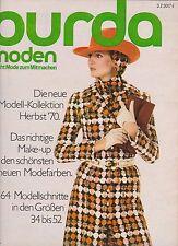 Burda Moden 09.1970 September mit Schnittmusterbogen und Nähanleitungen
