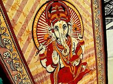 3989395914 Red Ganesh Trippy Hindu Tapestry Wall Hang Decor psychedelic trippy organic  dye