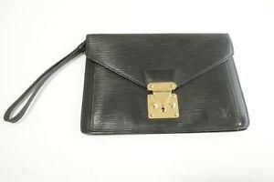 Authentic Louis Vuitton Second Bag Sellier Dragonne Epi Black #9997