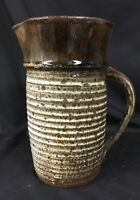 Vintage 1970s Studio Pottery Pitcher, Signed