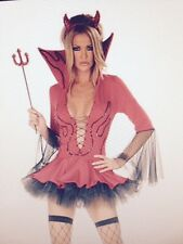 Womens Sexy HALLOWEEN Naughty DEVIL RED HOT Fancy Dress Costume Outfit