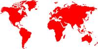 World Map Stencil Extra Large -  2m x 4m - 5part  Reusable mylar  - Walls Floors