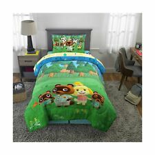 Animal Crossing Microfiber Bed-in-a-Bag Bedding Bundle Set, Comforter and. New