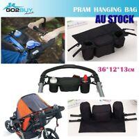 Kids Baby Stroller Pram Organiser Tray Hanging Bag/Cup Holder Accessories Bottle