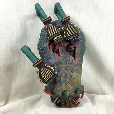 1980s Abstract Art Sculpture Wall Mask Memphis Group Fantasy Pop Art Hand Made
