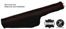RED STITCH SUEDE HANDBRAKE GAITER FITS AUDI TT 1998-2006