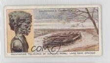 1937 #21 Recovering Treasures of Imperial Rome: Lake Nemi Drained Card a8x