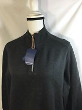 tommy bahama Men Dark Gray Jacket 1/4 Zip Up Stretch Nordstorm Size Large