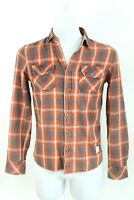 MUSTANG multicoloured chequers slim fit cotton casual man shirt size EU S