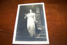 Rare Vintage RPPC Real Photo Postcard A2 Gustav Richter Painting Artist Woman