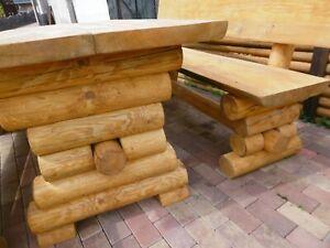 "1 Rustikale Gartenbank + Tisch  150cm lang "" Lina ""  Holz Massiv Farbe  Kiefer"