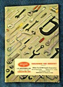 VINTAGE 1963 J.H. WILLIAMS & CO. TOOLS CATALOG ~ BUFFLAO, NY ~ WRENCHES / TONGS