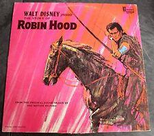 Walt Disney's Story of Robin Hood Record LP DQ1249 1964 Disneyland Album Class