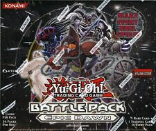 YUGIOH BATTLE PACK: EPIC DAWN EURO EDITION BOOSTER BOX BLOWOUT CARDS
