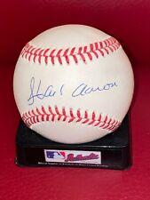 New listing STUNNUNG Signed HOF HANK AARON Autographed Baseball Auto MINT CREAM Ball JSA LOA