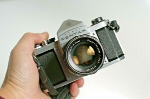 Asahi Pentax S1a Camera + Super-Takumar 1:2/55mm Lens - Simple robust camera!
