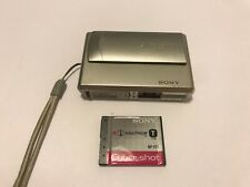 Sony Cyber-shot DSC-t1 Digital Camera - Silver BatterY No Charger