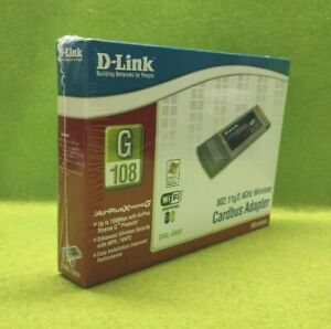 D-Link AirPlus XtremeG 108mbps DWL-G650 2.4GHz 802.11b Wireless CardBus Adapter