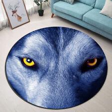 Wolf & Magic Eyes Flannel Area Rugs Anti Slip Mat Bedroom Floor Mat Round Carpet