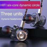 6 Driver Headphone Super Bass Stereo Earphone HIFI In Ear Earbuds Gaming Headset