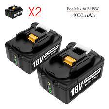 2Pack For Makita BL1830 BL1860 LXT400 BL1850 4000mAh 18V Lithium-ION Battery