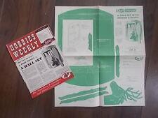 HOBBIES WEEKLY MAGAZINE NOVEMBER 10th 1954 FREE DESIGN HALL SET MIRROR & BRUSH