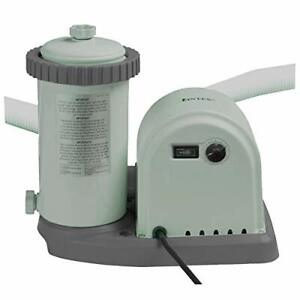 Intex 1500 GPH 220 - 240 V Cartridge Filter Pump - Grey
