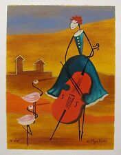 ESTHER MYATLOV AMONG THE SHADOWS Hand Signed Limited Edition Art Serigraph