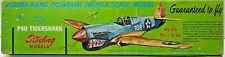 "18"" P-40 TIGERSHARK Rubber Profile Scale Balsa Model Airplane Kit Sterling R5-69"