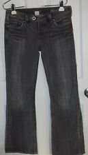 Silver Tina Jeans 29/33 Black Cotton Blend Light Stretch Distressed Look