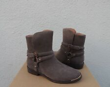 Ugg Kelby Mouse Suede Harness Buckle Ankle Boots, Women Us 11/ Eur 42 ~Nib