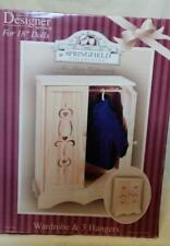 "New ListingNew Fibre Craft Springfield Collection 18"" Wooden Doll Armoire Battat Am Girl"