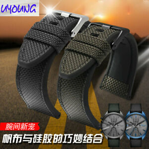 Nylon Canvas silicone Watch Band for  DZ4500 DZ4506 DS4318 ,24 26 28mm