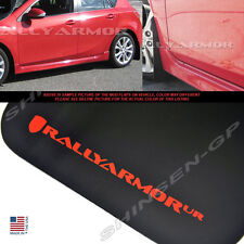 RALLY ARMOR UR BLACK MUD FLAPS FOR 2010-2013 MAZDA3 MAZDASPEED3 w/ RED LOGO