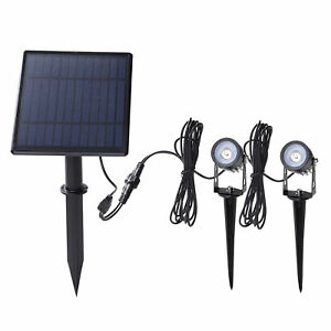 2W Dual Solar Powered Spotlights 130LM 2 IN 1 Water Resistant Tree Lamp Z7I5