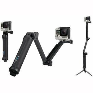 Genuine GoPro 3 Way Mount Tripod Extended Arm Foldable Selfie Stick AFAEM-001